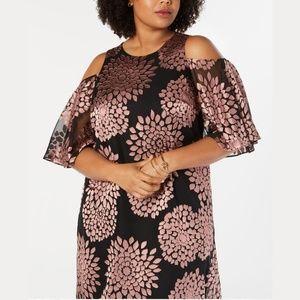 Jessica Howard Dress   COLD SHOULDER BURNOUT BLACK